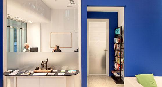 Informationsbereich und Bibliothek